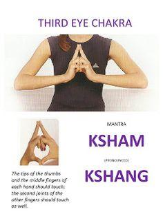 ∆ Third Eye Chakra...SELF-HEALING: MANTRAS AND MUDRAS FOR CHAKRA MEDITATION