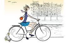 See Dorothea Renault interpret women Illustration Parisienne, Illustration Mignonne, Bicycle Illustration, Illustration Photo, Velo Paris, Bike Poster, Artist Journal, Bicycle Art, I Love Paris