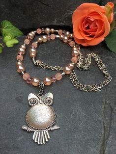 owl necklace, Made by Arja Hannele Owl Necklace, Charmed, Bracelets, Jewelry, Jewlery, Jewerly, Schmuck, Jewels, Jewelery