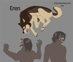 Snk Wolves - Eren by Nicicia.deviantart.com on @deviantART