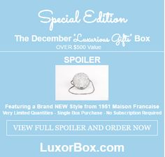 """December Special Edition """"Luxurious Gifts"""" Pre-Sale"""