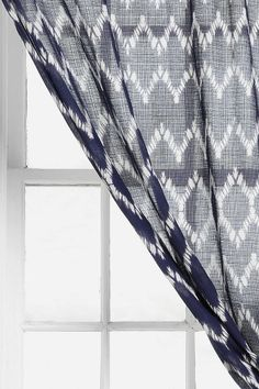 blue or mustard for living room // charcoal for bathroom - Magical Thinking Chevron Curtain