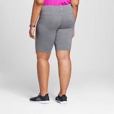 Women's Plus-Size Freedom Bermuda - Black Heather 2X - C9 Champion, Dark Grey Heather