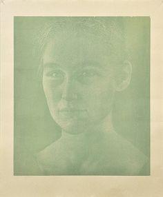 Franz Gertsch Bagatelle IV – Silvia 11/17, 2008, xylographie sur papier (Malachitgrün. Eine Platte), 130 x 107 cm/ 105 x 90.5 cm