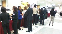 Our Career Fair volunteers getting ready for action!