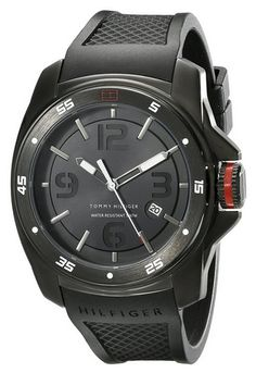 Tommy_Hilfiger_Men's_1790708_Analog_Display_Japan_Movement_Black_Watch