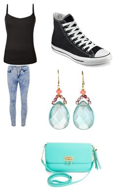 """""""Fashion"""" by esmir-suvalic ❤ liked on Polyvore featuring ONLY, Converse, BCBGMAXAZRIA and blackandblue"""
