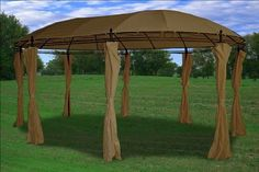 11'x17' Deluxe Steel Frame Gazebo with Sidewal by WPIC Store. $249.99. Easy set up.. Steel frame. Never used, great quality.. Feature:   * High quality steel framework  * a set of beautiful curtain  * Easy and fast to set up suitable for all kinds of events  * All necessary Hardware is included.  Specifications: Dimensions: 11'W(3.5m) x 17'L(5.3m) x 9'H(2.65m) Frame :Steel Top Cover Material: 200 gram Polyester PAcoated water resistant Side Wall Material :180 gram Polyester  Ca...