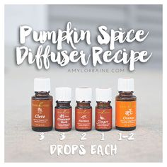 Pumpkin Spice Diffuser Combo | Young Living Essential Oils | Healthy Living | www.amylorraine.com                                                                                                                                                      More