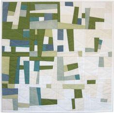 Blue Green improv quilt by Julie Owens