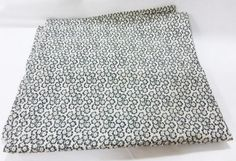 """Fabric vintage sewing craft quilting olive color white background 44""""x90"""" floral"""
