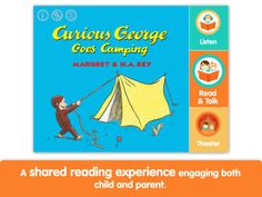 Tribal Nova has done it again. Curious George Goes Camping by iRead With is another Top Pick as an interactive reading experience. Camping Theme, Go Camping, Learn To Read, How To Start A Blog, Best Educational Apps, Learning Apps, Shared Reading, News Apps, Curious George