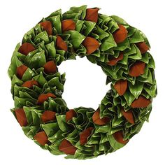 "Granny Smith 23"" Round Leaves Wreath 