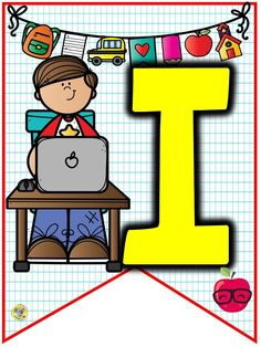 Pennant Banners, Bunting Banner, 1st Day Of School, Back To School, Banner Clip Art, Role Play Areas, Alphabet Templates, School Themes, Binder Covers