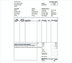 Invoice Templates Free Download Typical Simple Sales Purchase Invoice  Blank Invoice Template Pdf .