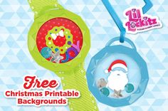 Show off your festive holiday spirit and create Christmas themed lockets from #LilLockitz. Download our free printable backgrounds and be merry! | alexbrands.com