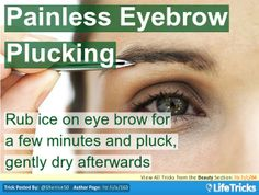 Beauty - Painless Eye Brow Plucking