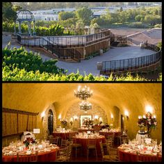 Our wedding venues - ceremony (top) and reception(bottom): The Meritage Napa Valley. <3