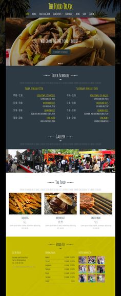 Food Truck is beautify created creative #restaurant WordPress theme. #website #template