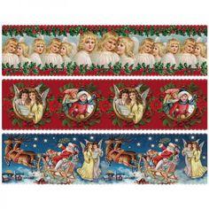 """Zauberfolien """"Weihnachten Vintage Style"""", Schrumpffolien für Ø10cm, 6 Stück"""