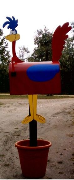 47 Insanely unusual and cool mailboxes for your home - Home and Garden - DIY and Crafts - Home Decor - Travel Destinations - Christmas Funny Mailboxes, Unique Mailboxes, Painted Mailboxes, Custom Mailboxes, Diy Mailbox, Mailbox Ideas, Mailbox Designs, Mailbox Makeover, Country Mailbox
