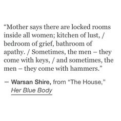 The House | Warsan Shire