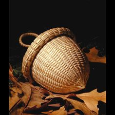 Acorn basket by Stephen Zeh from Temple, Maine via artfair.org