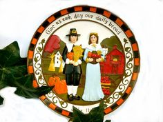 Thanksgving Decorative Plate with Pilgrim by TheSandlapperShop, $10.00