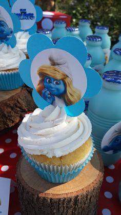 Smurfette Cupcake