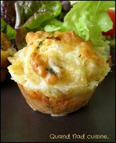 Muffins au morbier et aux tomates séchées - Quand Nad cuisine...