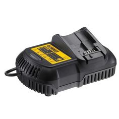 The Dewalt DCB100 Compact Charger efficiently charges all Dewalt 10.8v / 14.4v / 18v slide pack batteries. Great to have around when working on big projects.   L029038