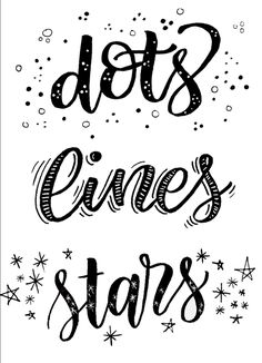 Dots. Lines. Stars.