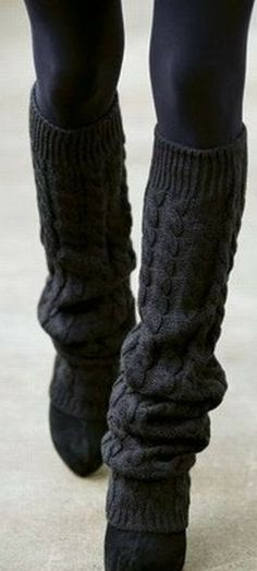 Leg Warmers.... It's like Flash Dance all over again, ha! their back........ omg 1980's but these have a much better layering effect and seem to mesh into the outfit better.