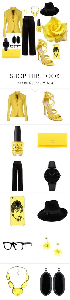"""""""Mayellow"""" by capeloise ❤ liked on Polyvore featuring IANUX, Steve Madden, OPI, Prada, Lanvin, CLUSE, Casetify, Mademoiselle Slassi, Bobbi Brown Cosmetics and Kim Rogers"""