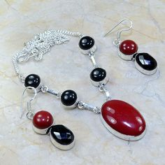 Red Coral Black Onyx.