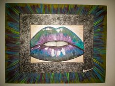 Electric Lips, acrylic painting by kyleharrisartist.com