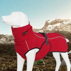 High-quality Warm Winter Reflective Dog Clothes Fleece Solid Cute Coat Jacket Autumn for Big Dogs Easy Wear - NewChic Mobile