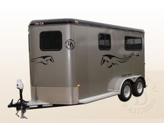 2 Horse Straight Load Bumper Pull Horse Trailers For Sale photo