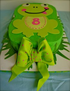 Frog cake for stella Leap Year Birthday, Frog Birthday Party, Prince Birthday Party, 1st Birthday Cakes, Mom Birthday, Birthday Parties, Birthday Ideas, Pretty Cakes, Cute Cakes