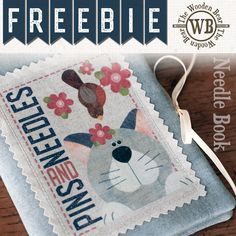 FREEBIE May Printable and pattern for a simple needle book by The Wooden Bear. Printable Fabric, Printable Stickers, Free Printables, Small Sewing Projects, Sewing Crafts, Sewing Kits, Penny Rug Patterns, Bear Patterns, Table Topper Patterns