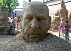 International Festival of Sand Sculpture in St. Petersburg, sand artists from Russia, Ukraine, the Netherlands, Finland, Czech Republic, Latvia, Germany and France