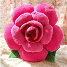 Colorful Rose Pillow Plush Soft Flower Sofa Chair Cushion Gift Home Bid Hot Sale Throw Cushions, Decorative Throw Pillows, Flower Pillow, Flower Petals, Creative Gifts, Flower Decorations, Diy And Crafts, Bed Sofa, Sofa Chair