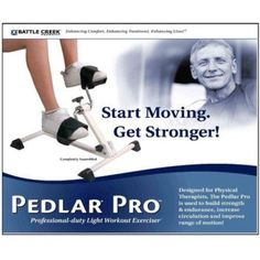 BATTLECREEK PEDLAR PRO PEDAL /ARM EXERCISER ADJUSTABLE EXERCISE PHYSICAL THERAPY