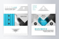 Blue annual Report Brochure. . Business Infographic