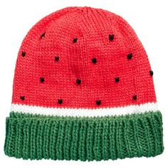 ASOS Watermelon Beanie (110 VEF) ❤ liked on Polyvore featuring accessories, hats, beanies, head, asos beanie, asos, beanie hats y asos hats