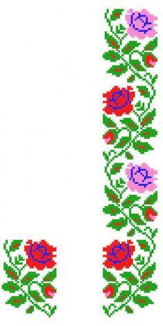 FL125 Cross Stitch Borders, Cross Stitch Flowers, Cross Stitch Designs, Cross Stitching, Cross Stitch Embroidery, Embroidery Patterns, Cross Stitch Patterns, Bargello, Christmas Cross