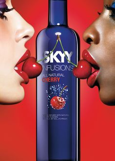 Ads With Naughty Symbolism - Trend Hunter has seen a suggestive alcohol ad or two before, but Skyy Vodka takes it to another level with this super naughty ad. Couple a creativ. Skyy Vodka, Infused Vodka, Objectification Of Women, Vodka Mixes, Safari, Cherry Vodka, Alcoholic Drinks, Cocktails, Spiritus