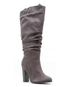 Look what I found on #zulily! Charcoal Slouchy Reborn Boot #zulilyfinds