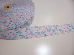 Pastel Flower Grosgrain Ribbon 1 1/2 inches wide x 10 yards, Flower Ribbon  #Offray