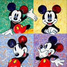 Mickey Mouse! So cheerful